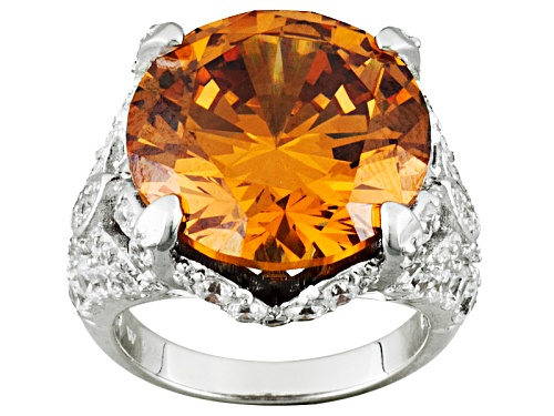 Photo of Charles Winston For Bella Luce ® 25.04ctw Rhodium Over Sterling Silver Ring - Size 5