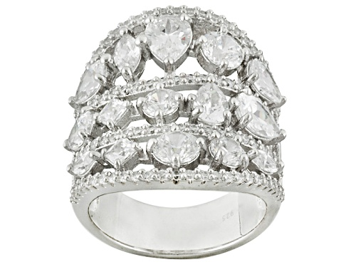 Photo of Charles Winston For Bella Luce ® 11.13ctw Rhodium Over Sterling Silver Ring - Size 7