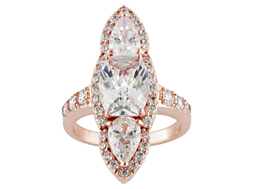 Photo of Charles Winston For Bella Luce ® 8.76ctw Oval, Pear Shape & Round Eterno ™ Rose Ring - Size 5