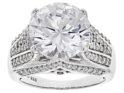 Photo of Charles Winston For Bella Luce ® 12.29ctw Rhodium Over Sterling Silver Ring (7.50ctw Dew) - Size 9