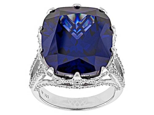 Photo of Charles Winston For Bella Luce®31.86ctw Tanzanite/White Diamond Simulants Rhodium Over Silver Ring - Size 6