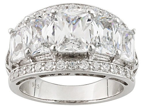 Photo of Charles Winston For Bella Luce ® 6.57ctw White Diamond Simulants Rhodium Over Sterling Silver Ring - Size 12