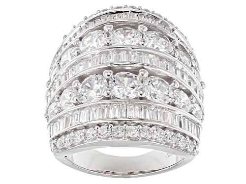 Photo of Charles Winston For Bella Luce ® 13.97ctw Diamond Simulant Rhodium Over Sterling Silver Ring - Size 7