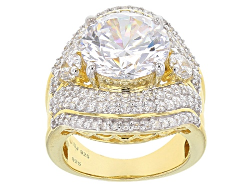 Photo of Charles Winston For Bella Luce ® 15.53ctw, Diamond Simulant, Eterno ™ Yellow Ring (8.75ctw Dew) - Size 11