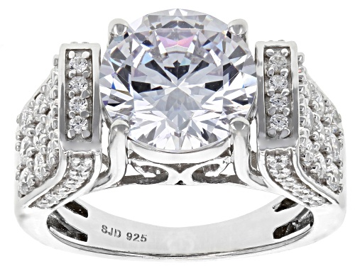 Photo of Charles Winston For Bella Luce ® 8.76ctw White Diamond Simulant Rhodium Over Sterling Silver Ring - Size 11