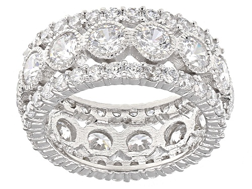 Photo of Charles Winston For Bella Luce ® 8.46ctw White Diamond Simulant Rhodium Over Sterling Silver Ring - Size 10