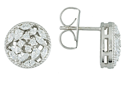 Photo of Charles Winston For Bella Luce ® 1.90ctw Diamond Simulant Rhodium Over Sterling Silver Earrings