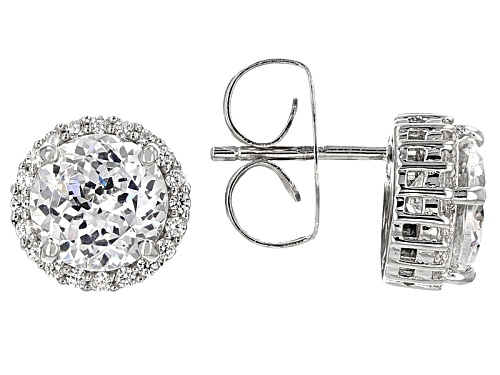 Photo of Charles Winston For Bella Luce® 5.16ctw Scintillant Cut Rhodium Over Sterling Earrings (3.60ctw DEW)