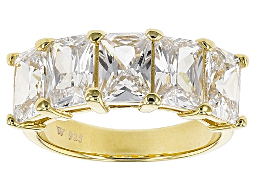 Photo of Charles Winston For Bella Luce ® 5.90ctw Diamond Simulant Rhodium Over Sterling Ring (4.24ctw Dew) - Size 10