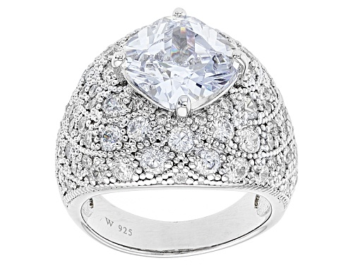 Photo of Charles Winston For Bella Luce® 10.05ctw Diamond Simulant Rhodium Over Sterling Ring (7.72ctw Dew) - Size 8