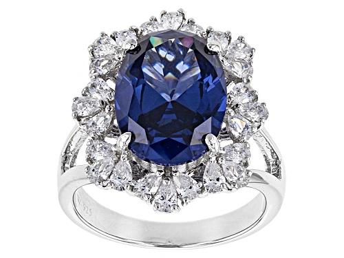 Photo of Charles Winston For Bella Luce ® Tanzanite & White Diamond Simulants Rhodium Over Sterling Ring - Size 12