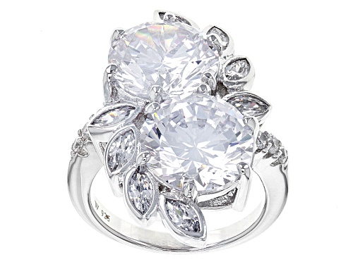 Photo of Charles Winston For Bella Luce®18.26ctw Diamond Simulant Rhodium Over Sterling Ring (10.38ctw Dew) - Size 7