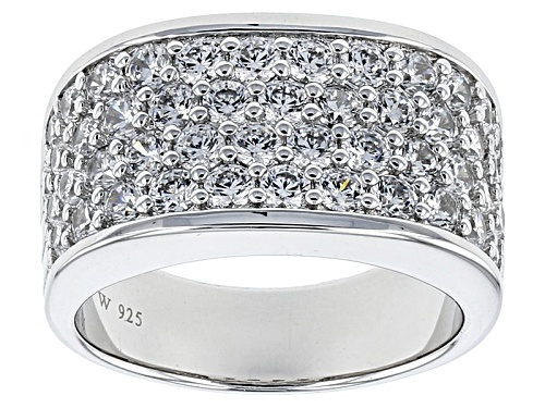 Photo of Charles Winston For Bella Luce ® 3.47ctw Rhodium Over Sterling Silver Ring (1.82ctw Dew) - Size 5