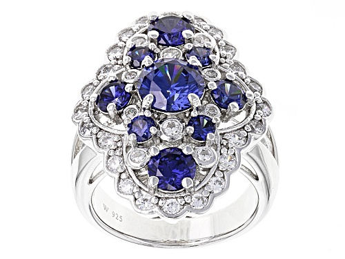 Photo of Charles Winston For Bella Luce®7.03ctw Tanzanite & Diamond Simuants Rhodium Over Sterling Ring - Size 7