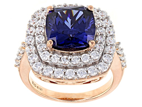 Photo of Charles Winston For Bella Luce ® 9.31ctw Tanzanite & Diamond Simulants Eterno™ Rose Ring - Size 5