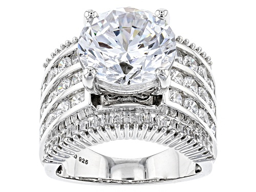 Photo of Charles Winston For Bella Luce ® 15.15ctw White Diamond Simulant Rhodium Over Sterling Silver Ring - Size 10