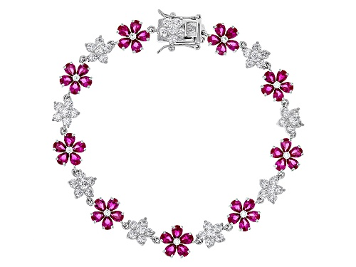 Photo of Charles Winston For Bella Luce ® Lab Created Ruby & Diamond Simulant Rhodium Over Silver Bracelet - Size 7.5