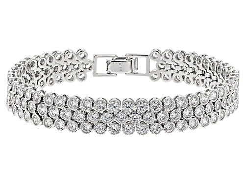 Photo of Charles Winston For Bella Luce ® 15.18ctw Rhodium Over Sterling Silver Bracelet (11.04ctw Dew) - Size 7.25