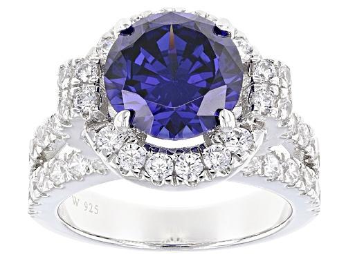 Photo of Charles Winston For Bella Luce ® 8.90ctw Tanzanite & Diamond Simulants Rhodium Over Silver Ring - Size 9