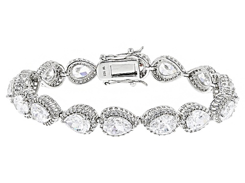 Photo of Charles Winston For Bella Luce ® 33.62ctw White Diamond Simulant Rhodium Over Silver Bracelet - Size 7.25