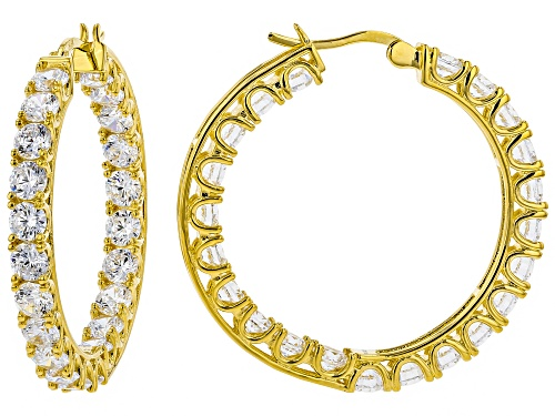 Photo of Charles Winston For Bella Luce® 17.00ctw Eterno ™ Yellow Hoop Earrings (11.00ctw Dew)