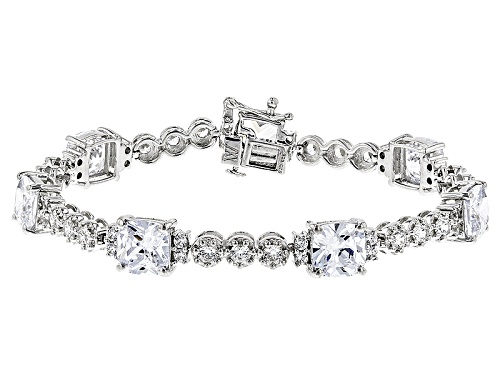 Photo of Charles Winston For Bella Luce ® 32.63ctw Diamond Simulant Rhodium Over Silver Bracelet - Size 7.5