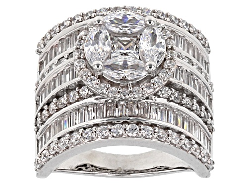 Photo of Charles Winston For Bella Luce ® 6.76ctw Diamond Simulant Rhodium Over Sterling Silver Ring - Size 11