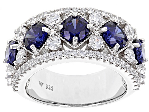 Photo of Charles Winston For Bella Luce® 6.11ctw Tanzanite And Diamond Simulants Rhodium Over Silver Ring - Size 8