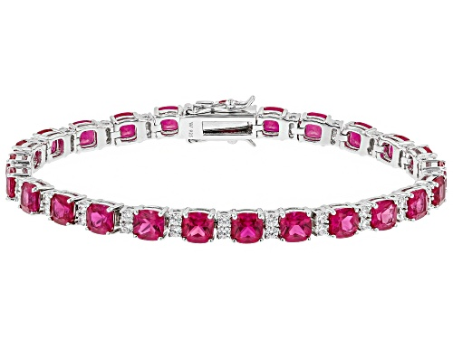 Photo of Charles Winston for Bella Luce ® Lab Created Ruby & Diamond Simulants Rhodium Over Silver Bracelet - Size 7.5