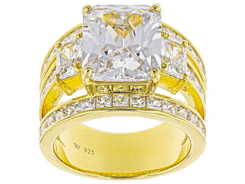 Photo of Charles Winston for Bella Luce ® 14.23CTW White Diamond Simulant Eterno ™ Yellow Ring - Size 11