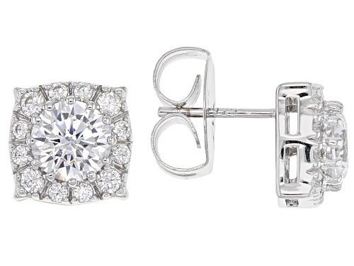 Photo of Charles Winston for Bella Luce ® 3.96CTW White Diamond Simulant Rhodium Over Silver Earrings