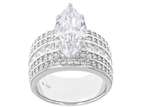Photo of Charles Winston For Bella Luce ® 11.36CTW White Diamond Simulant Rhodium Over Silver Ring - Size 12