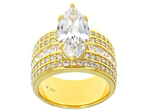 Charles Winston For Bella Luce ® 11.36CTW White Diamond Simulant Eterno ™ Yellow Ring - Size 11