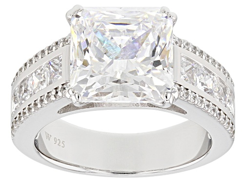 Charles Winston for Bella Luce® 10.55CTW Scintillant Cut® Diamond Simulant Rhodium Over Silver Ring - Size 10