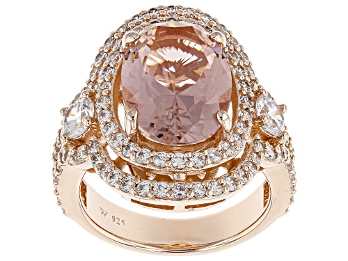 Photo of Charles Winston for Bella Luce ® 8.25CTW Morganite & White Diamond Simulants Eterno ™ Rose Ring - Size 11