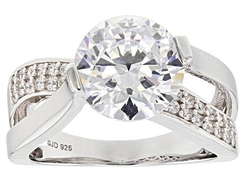 Photo of Charles Winston for Bella Luce ® 6.77CTW White Diamond Simulant Rhodium Over Silver Ring - Size 11