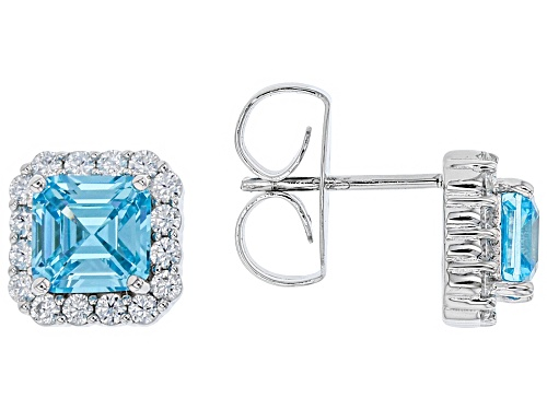 Photo of Charles Winston For Bella Luce ® Neon Apatite & White Diamond Simulants Rhodium Over Silver Earrings