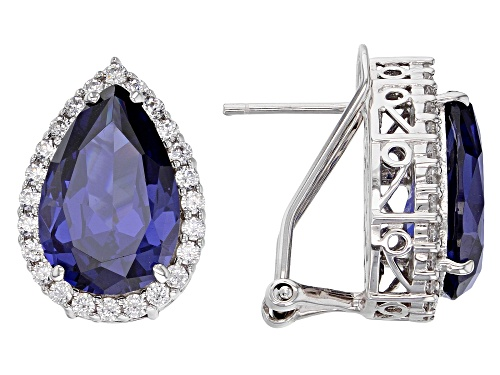 Photo of Charles Winston For Bella Luce ® Tanzanite & White Diamond Simulants Rhodium Over Silver Earrings