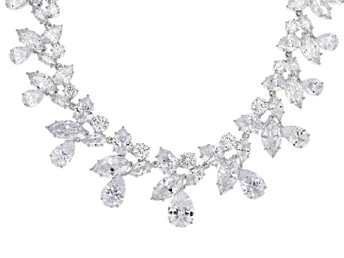 Photo of Charles Winston For Bella Luce ® 147.21CTW White Diamond Simulant Rhodium Over Silver Necklace - Size 18