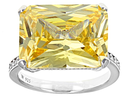 Photo of Charles Winston For Bella Luce®19.73CTW Canary & White Diamond Simulants Rhodium Over Silver Ring - Size 6