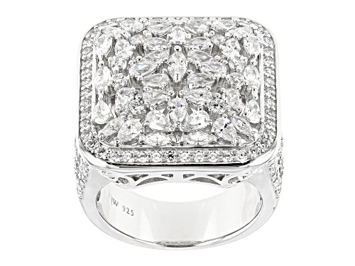 Photo of Charles Winston For Bella Luce ® 4.74CTW White Diamond Simulant Rhodium Over Sterling Silver Ring - Size 5