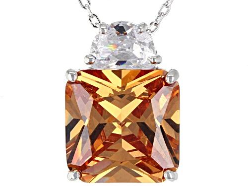 Photo of Charles Winston For Bella Luce ® Champagne & White Diamond Simulants Rhodium Over Silver Pendant