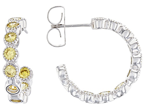 Photo of Charles Winston For Bella Luce®3.48CTW Canary Diamond Simulant Rhodium Over Silver Earrings