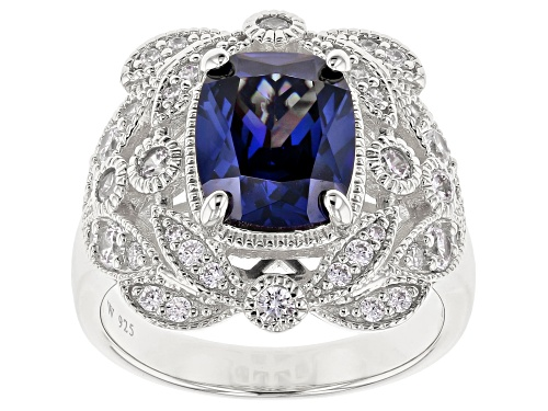 Photo of Charles Winston For Bella Luce®5.84CTW Tanzanite & White Diamond Simulants Rhodium Over Silver Ring - Size 8