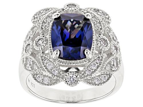 Photo of Charles Winston For Bella Luce®5.84CTW Tanzanite & White Diamond Simulants Rhodium Over Silver Ring - Size 8