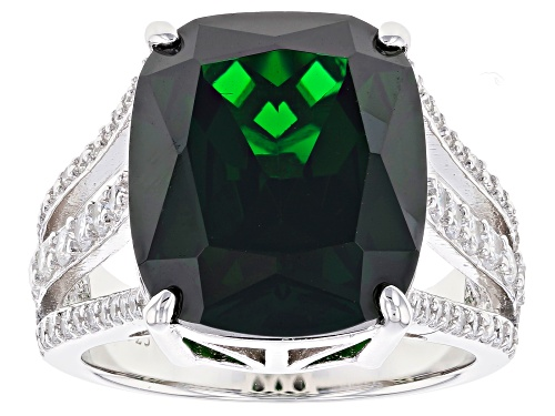 Photo of Charles Winston For Bella Luce®18.71CTW Emerald White Diamond Simulants Rhodium Over Silver Ring - Size 7