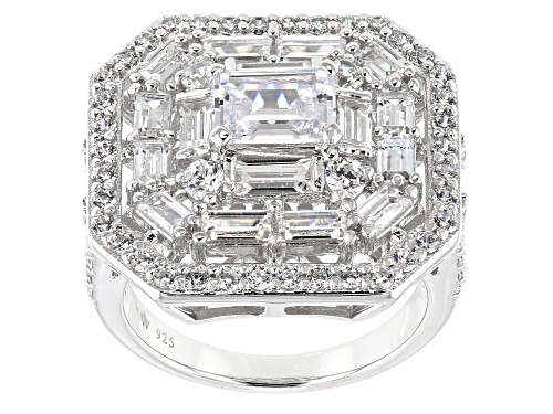 Photo of Charles Winston For Bella Luce®5.08CTW White Diamond Simulant Rhodium Over Sterling Silver Ring - Size 6