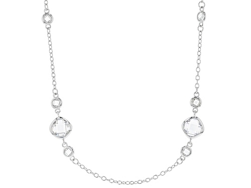 Photo of Charles Winston For Bella Luce®19.74CTW White Diamond Simulant Rhodium Over Silver Necklace - Size 20