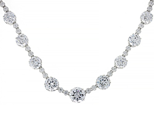 Photo of Charles Winston for Bella Luce ® 74.42ctw Rhodium Over Sterling Silver Necklace (47.10ctw DEW) - Size 18