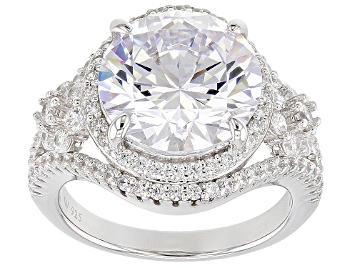 Photo of Charles Winston For Bella Luce ® 11.45CTW Diamond Simulant Rhodium Over Silver Ring (7.26CTW DEW) - Size 10
